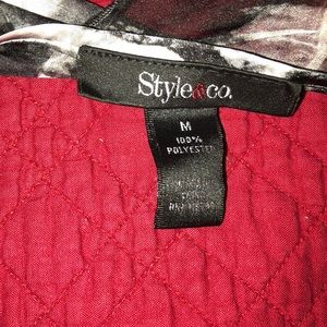 Style & Co Tops - CottonBlouse top with satin on top